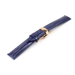 腕時計 ベルト 20mm レザー ネイビー バックルタイプ ...