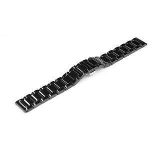 腕時計に取り外しが快適なプッシュ式Dバックル(両開き)を使用した腕時計用ステンレスブレス。コマは削り...