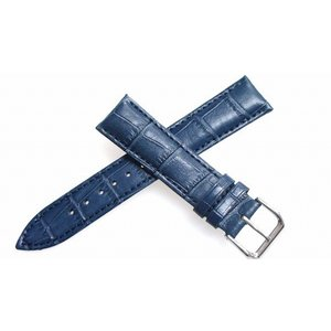 腕時計 ベルト 24mm レザー ネイビー ピンインバックル...