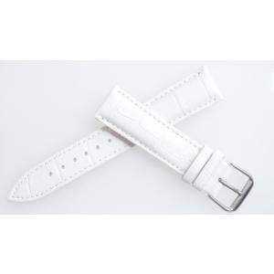 腕時計 ベルト 16mm レザー 白 ピンインバックル 交換...