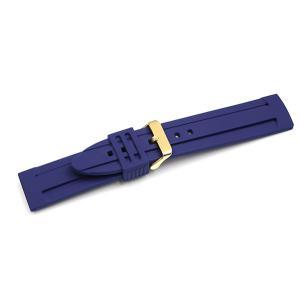 腕時計 ラバー ベルト 22mm ネイビー Y122NV 交...