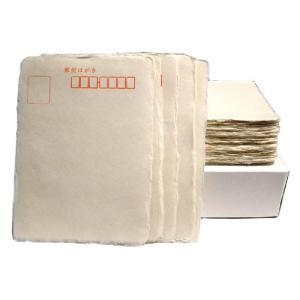一枚漉和紙はがき 100枚【ペン・毛筆 手漉き和紙】 gyokurindoshop