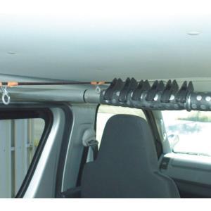 クレトム KA-94 車内インテリアバー用パーツ ハンガーストッパー2 車内のスペースを有効活用!釣竿サーフボードなど車内積みに最適【FJ】|gyouhan-shop
