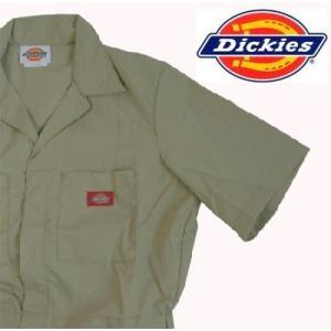 ディッキーズ Dickies ディッキーズ カバーオール つなぎ ツナギ 3399KH-L カーキ|gyouhan-shop