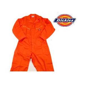 ディッキーズ Dickies ディッキーズ カバーオール つなぎ ツナギ 4870OR2XL オレンジ|gyouhan-shop