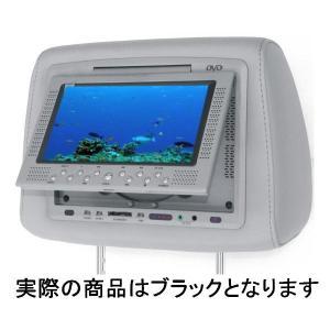 【アウトレット特価!】DVDプレイヤー内蔵 ヘッドレストモニター ブラック Divx対応 TFT7インチ液晶 USB/SD/MMCスロット搭載 CRS-668|gyouhan-shop