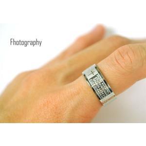 ペアリング 指輪 シンプル リング メンズ ステンレス レディース クロス メッセージ シルバー 刻印 ≪ゆうメール便配送20・代引不可≫|gypsy|03