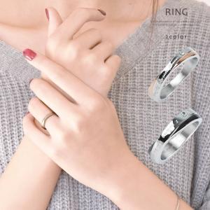 ペアリング 指輪 メンズ レディース ジルコニア ステンレス...