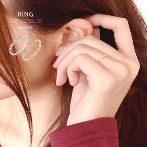 ピンキーリング 指輪 リング レディース 極細 シンプル ナチュラル ツイスト デザイン 華奢 ゴールド シルバー|gypsy