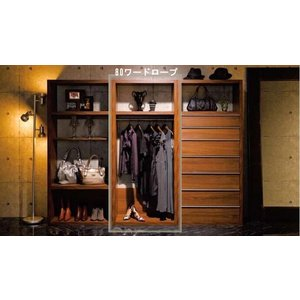 ハンガーラック 80 おしゃれ 日本製 木製 服吊 ワードローブ クローゼット 棚 シンプル 日本一の家具産地大川の家具 大川家具 開梱設置送料無料|habitz-mall