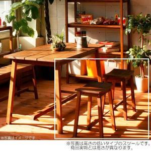 ツール ハイスツール天然木マホガニー材 木製 イス 一人用 椅子 おしゃれ W365×D245×H615(SH600) 組立品 送料無料|habitz-mall