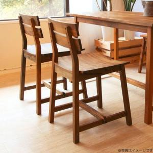 チェア 天然木マホガニー材 木製 ダイニングチェア おしゃれ W410×D460×H790|habitz-mall