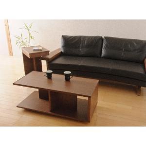 リビングテーブル サイドテーブル キャスター付き 35 日本製 完成品 木製 無垢 ウォールナット おしゃれ 送料無料 日本一の家具産地大川の家具 大川家具|habitz-mall