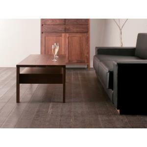 リビングテーブル ローテーブル 日本製 完成品 長方形 110×50 木製 無垢 ブラックチェリー/ウォールナット 2素材より選択 おしゃれ 引き出し 大川家具 送料無料|habitz-mall
