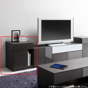 SQA-005 W50 サイドキャビネット ホワイト 幾何学 シックモダン リビング テレビサイド キャビネット テレビサイド 幅50 白|habitz-mall
