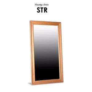 STR ウォールミラー62 木枠 無垢 姿見 鏡 ミラー 壁掛け パイン 無垢材 天然木 おすすめ カントリー調 最高級|habitz-mall