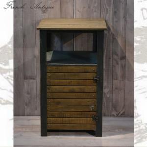 キャビネット リビング収納 W460×D350×H800mm おしゃれ 木製 アンティーク カントリー 家具 雑貨 フランス人デザイナー|habitz-mall