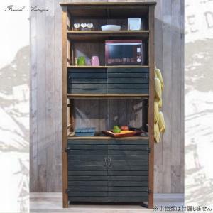 食器棚 完成品 おしゃれ カップボード アンティーク カントリー 家具 雑貨 キッチン収納|habitz-mall