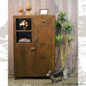 サイドボード キャビネット 木製 収納 リビング おしゃれ アンティーク カントリー 家具 雑貨 完成品 白 ブラウン キッチン収納|habitz-mall