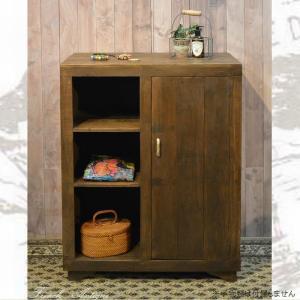 サイドボード キャビネット W800×D420×H1040mm 木製 収納 リビング おしゃれ アンティーク カントリー 家具 雑貨 完成品 白 ブラウン キッチン収納|habitz-mall