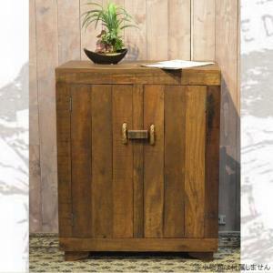 サイドボード キャビネット 木製 収納 リビング収納 63 おしゃれ アンティーク カントリー 家具 雑貨 完成品 白 ブラウン キッチン収納|habitz-mall