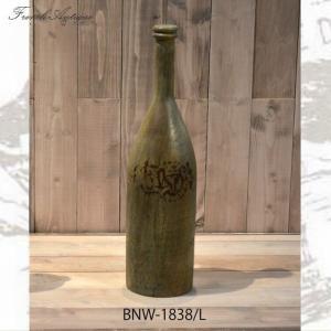 フランス人デザイナー フレンチアンティーク雑貨 おしゃれなビン(2個セット) BNW-1838 L ...