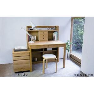 ワゴン サイドワゴン シンプル 40 木製 日本製 キャスター付き デスクサイド 収納 天然木アルダー ヒノキ|habitz-mall