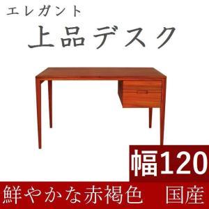 書斎デスク 高級 書斎机 120 日本製 完成品 パソコンデスク デスク 学習机  おしゃれ 木製 シンプル 天然木 収納付き 引き出し 送料無料|habitz-mall