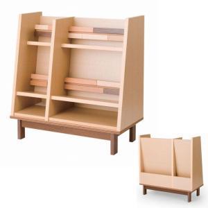 0 オープンシェルフ ラック 85  日本製 完成品 木製 リビング収納 棚 本棚 おしゃれ マガジンラック 背面収納付き ブックシェルフ 送料無料|habitz-mall