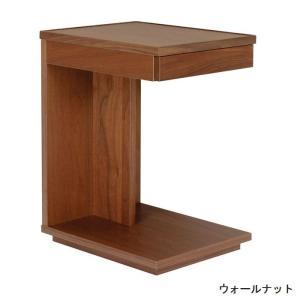 リビングテーブル サイドテーブル ローテーブル キャスター付き 35 日本製 木製 無垢 収納 ウォールナット オーク 引き出し付き 長方形 おしゃれ 送料無料|habitz-mall