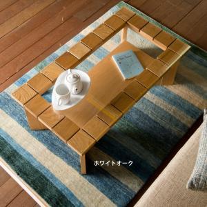 リビングテーブル ローテーブル ガラステーブル 95×52  115×52 2サイズ選択 日本製 完成品 長方形 木製 無垢 ウォールナット オーク おしゃれ 送料無料|habitz-mall
