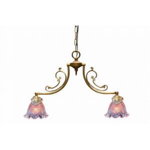 真鍮 シャンデリア (CP20G 331) LED対応 ゴールド クラシカルなデザインの2灯シャンデリア リビング ランプ 吊り下げ式 シンプル|habitz-mall