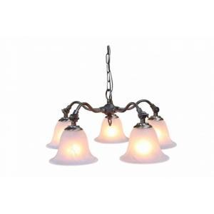 真鍮 シャンデリア (SS50AB 416) LED対応 クラシカルなデザインの5灯シャンデリア アンティーク調 ランプ 照明 吊り下げ式 シンプル|habitz-mall