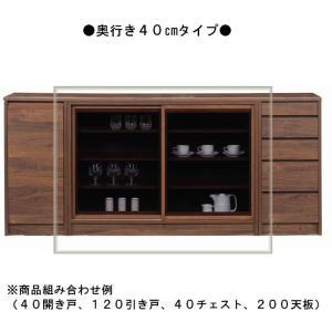 キャビネット 120 リビング 家具 ローボード 食器棚 サイドワゴン カウンター 80幅 奥行40 D=40ラインシリーズ用|habitz-mall