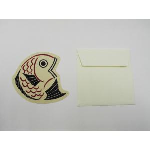 福山市名産柄ミニカード『鯛』|habu-net-shop