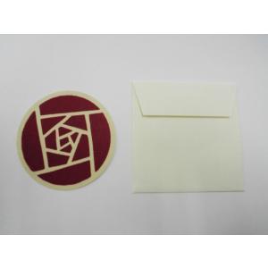 福山市名産柄ミニカード『ばら』|habu-net-shop