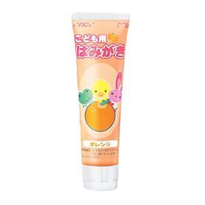 GCフッ素入り こども用はみがき(ハミガキ)味にこだわった オレンジ(お子様の日常使用に適したフッ素入り歯磨き粉)【通常使用フッ素配合】|haburashiya