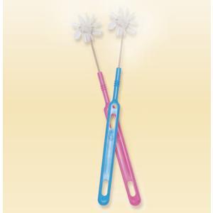 オーラルケア 柄付くるリーナブラシ(要介護者の口腔ケア) 2色×2本 計4本セット|haburashiya