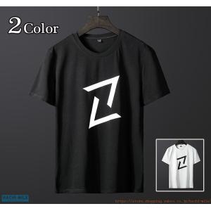 無地tシャツ 半袖 メンズ シンプル プリント 丸首tシャツ 白tシャツ サマーtシャツ クルーネッ...