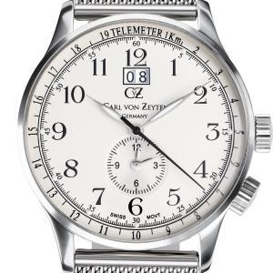 Carl von Zeyten カール・フォン・ツォイテン 電池式クォーツ 腕時計 [CvZ0006SLMB] 正規品   デイト  GMT(ワールドタイム)|hachigoten