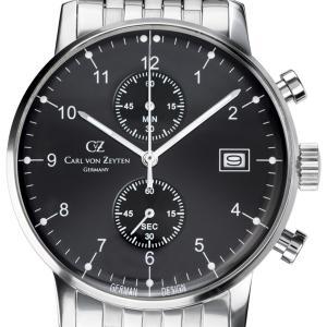 Carl von Zeyten カール・フォン・ツォイテン 電池式クォーツ 腕時計 [CvZ0007BKMB] 正規品   クロノグラフ|hachigoten