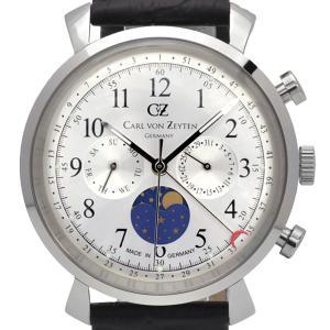 Carl von Zeyten カール・フォン・ツォイテン 電池式クォーツ 腕時計 [CvZ0015SL] 正規品   カレンダー  デイ&ナイト(サン&ムーン)|hachigoten