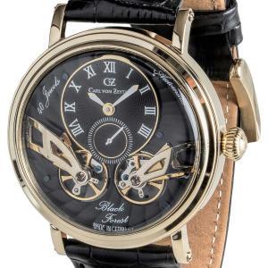 Carl von Zeyten カール・フォン・ツォイテン 自動巻き(手巻き機能あり) 腕時計 [CvZ0017GBK] 並行輸入品 スケルトン ダブルテンプ|hachigoten