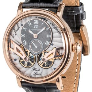 Carl von Zeyten カール・フォン・ツォイテン 自動巻き(手巻き機能あり) 腕時計 [CvZ0017RGY] 並行輸入品 スケルトン ダブルテンプ|hachigoten