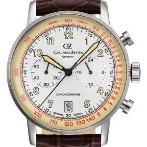Carl von Zeyten カール・フォン・ツォイテン 電池式クォーツ 腕時計 [CvZ0020WH] 正規品   デイト  クロノグラフ|hachigoten