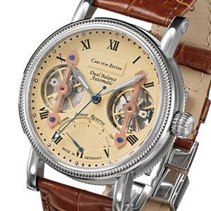 Carl von Zeyten カール・フォン・ツォイテン 自動巻き(手巻き機能あり) 腕時計 [CvZ0024CR] 正規品   パワーリザーブ スケルトン hachigoten