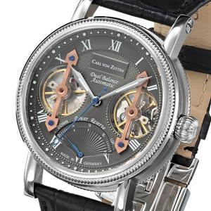 Carl von Zeyten カール・フォン・ツォイテン 自動巻き(手巻き機能あり) 腕時計 [CvZ0024GU] 正規品   パワーリザーブ スケルトン hachigoten