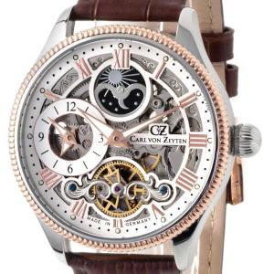 Carl von Zeyten カール・フォン・ツォイテン 自動巻き(手巻き機能あり) 腕時計 [CvZ0034RWH] 並行輸入品   デイ&ナイト(サン&ムーン)スケルトン hachigoten
