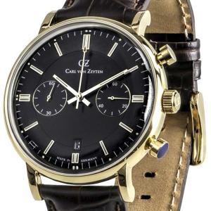 Carl von Zeyten カール・フォン・ツォイテン 電池式クォーツ 腕時計 [CVZ0037GBK] 並行輸入品   デイト  クロノグラフ|hachigoten