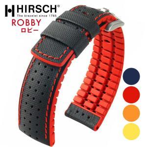 HIRSCH ヒルシュ ROBBY ロビー 腕時計用 レザーベルト テキスタイルベルト 布ベルト サイズ:E20 E22 E24|hachigoten
